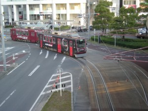 豊電 路面電車 黄色矢印信号