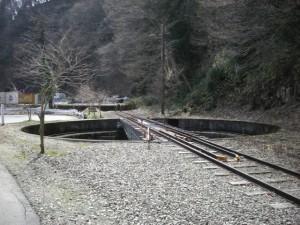 長良川鉄道 北濃駅手動式転車台