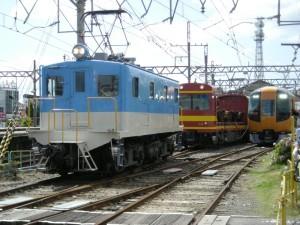きんてつ鉄道まつり2009塩浜研修車庫 デ32、モト94、新型特急22600系
