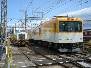 きんてつ鉄道まつり2009塩浜研修車庫 28t軌道モーターカー、はかるくん