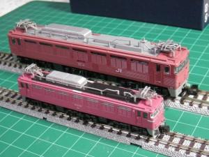 ZJゲージEF81,TOMIXと比較