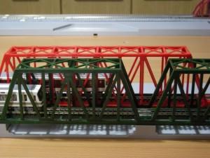 ジオラマレール直線450mm鉄橋+KATO鉄橋
