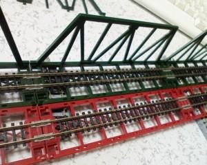 ジオラマレール鉄橋 複線間隔40mm