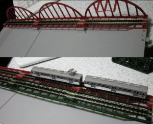 ジオラマレール鉄橋複線化