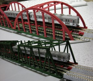 """""""ジオラマレール鉄橋複線化"""