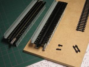 デッキプレートガーダー橋の枕木修正