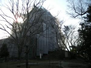 伊賀上野公園、上野城改装中