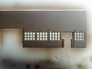 嘉例川駅モジ駅舎、内側塗装