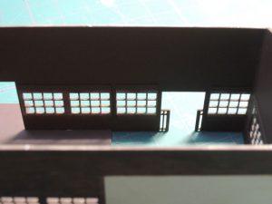 嘉例川駅モジ駅舎、組立て