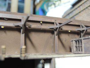 嘉例川駅モジのホーム電飾チップLED1005配線