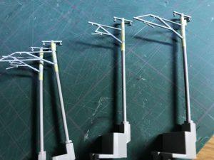 KATO単線架線柱の塗装